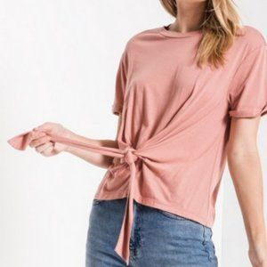 NWT Z Supply The Tie Front Tee